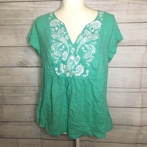 Boden Embroidered Short Sleeve Tee